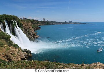 Duden Park with its Beautiful Waterfall in the City of...
