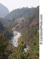 Dudh Kosi river, Everest trail, Himalaya, Nepal