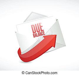 due balance email illustration design