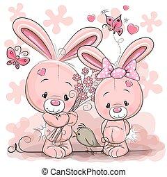 due, conigli