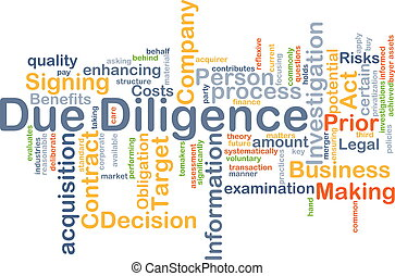 Due Diligence background concept - Background concept...