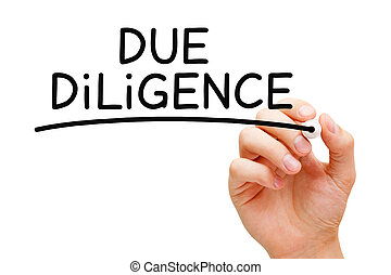 Due Diligence Handwritten With Black Marker