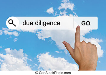 due diligence on search toolbar - due diligence button on...