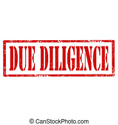 Due Diligence-stamp - Grunge rubber stamp with text Due...
