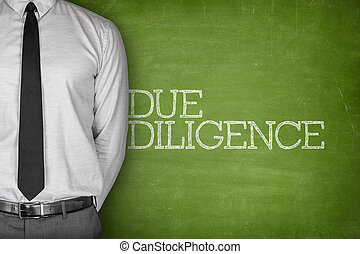 Due diligence text on blackboard