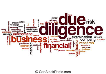 Due dilligence word cloud concept