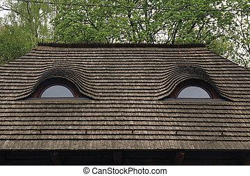 Legno vecchio tetto abbaino immagini d 39 archivio cerca for Versare piani casa dormer