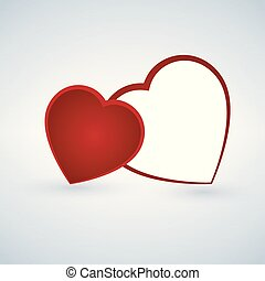 due, hearts., felice, valentines, day.