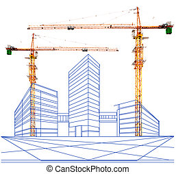 due, punto, prospettiva, di, costruzione, c