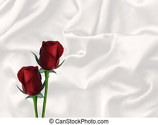 due, rose rosse, raso bianco, valentina