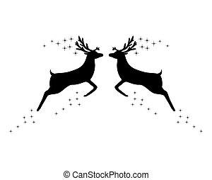 due, stelle, renna
