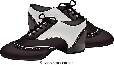 due-tono, scarpe, per, ballo