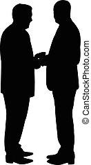 due, uomini affari