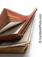 due, vecchio, anticaglia, libri