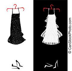 due, vestiti