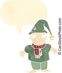 duende, caricatura, natal