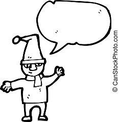 duende, natal, caricatura