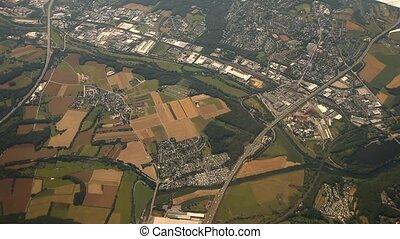 Duesseldorf, flug, aus, deutschland
