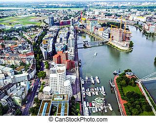Duesseldorf mediahafen harbour HDR
