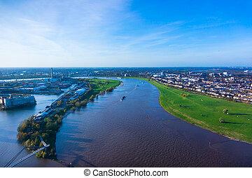 Duesseldorf mediahafen (harbour) in Rheinland-Westphalia, German