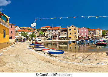 Dugi otok island village of Sali waterfront, Dalmatia, Croatia