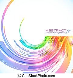 duha, abstraktní, barvy, vektor, grafické pozadí, lesklý