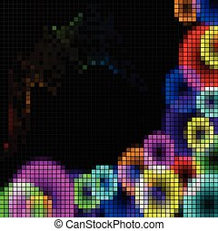 duha, abstraktní, mozaika