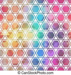 duha, mozaika, pattern.