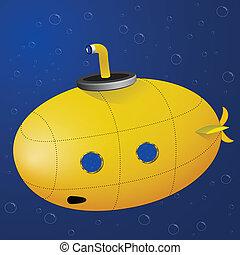 duikboot, gele