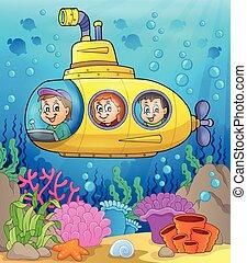 duikboot, thema, 2, beeld