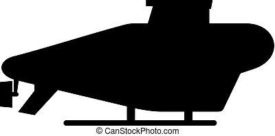 duikboot, vliegen, pictogram