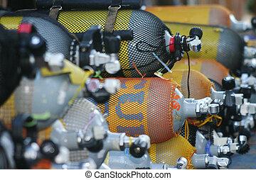 duiken, cilinders