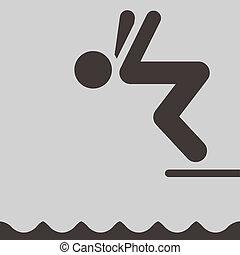 duiken, pictogram