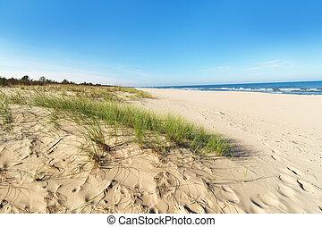 duinen, baltisch, zand zee