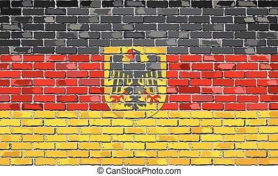 duitse vlag, embleem, baksteen