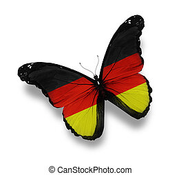duitse vlag, witte , vrijstaand, vlinder