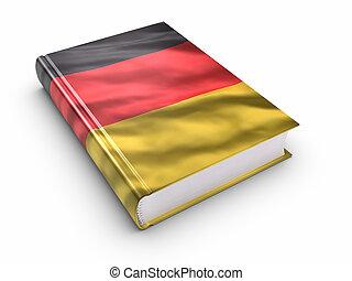 duitser, bedekt, vlag, boek