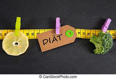 duitser, diät, -, dieet