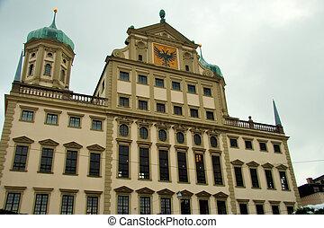 duitser, gebouw, regering