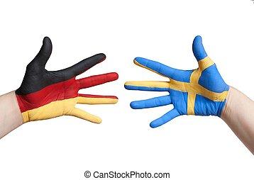 duitsland, en, zweden