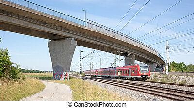 duitsland, münchen, betrouwbaar, 14, vervoeren, duitsland, 2020:, vasten, spoorweg, wijze, juli