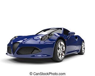 Duke blue modern sports car