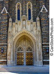 Duke Chapel - duke chapel front door