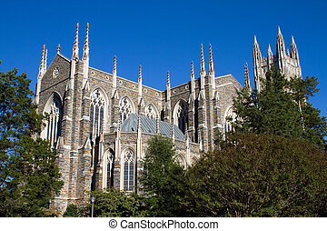 Duke University Chapel is located on the campus of Duke...