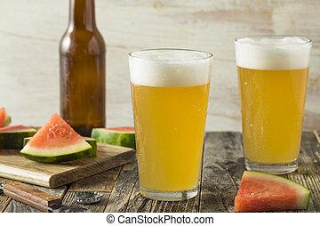 dulce, alcohólico, sandía, cerveza