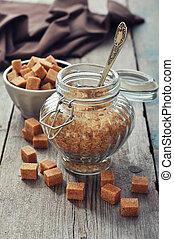 dulce, azúcar, marrón