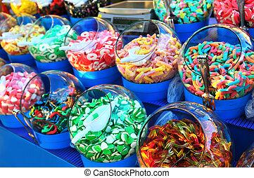 dulce, colorido, dulce