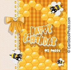 dulce, -, cumpleaños, mi, tarjeta, feliz