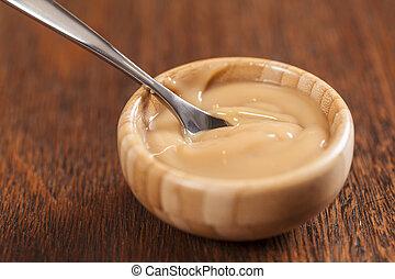 Dulce de leche,(Doce de leite) a sweet made ??from milk, ...