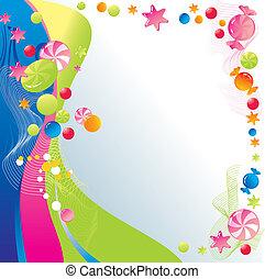 dulce, diseño, celebratory